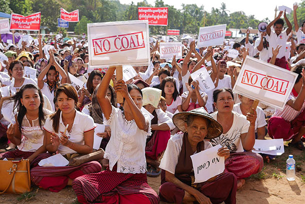 Protest over proposed coal power plant